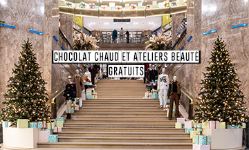 The stylish festivities inside the parisiennes' favourite department store
