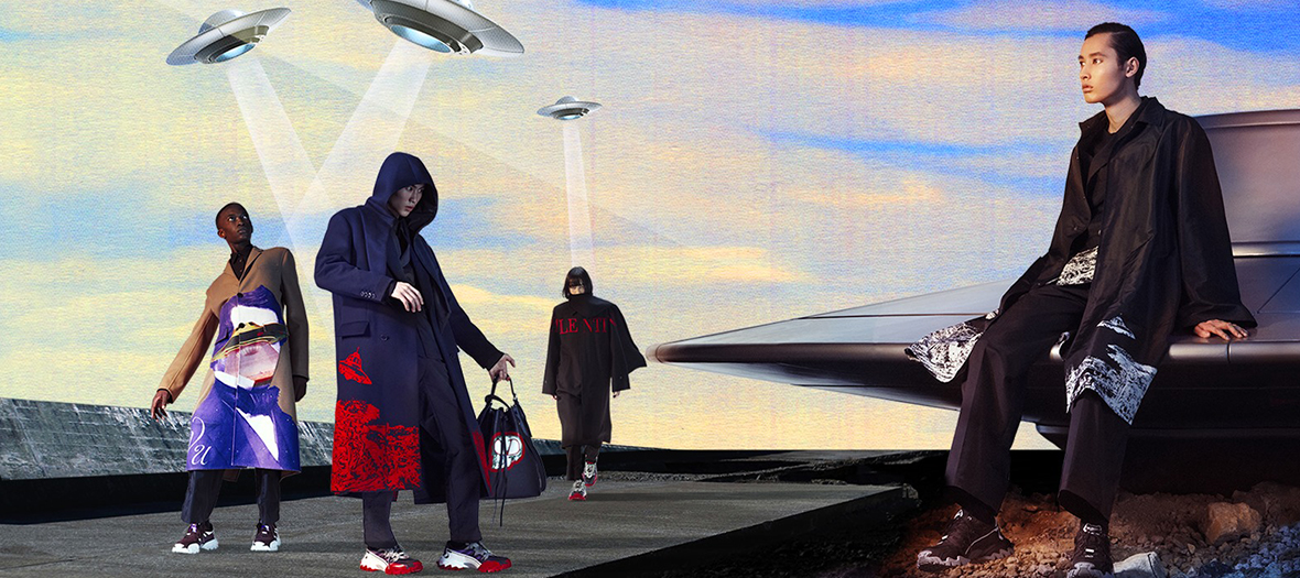 Manteaux, sneakers, doudounes, t-shirts, sacs, pulls de Undercover et Valentino à partir de 150 €