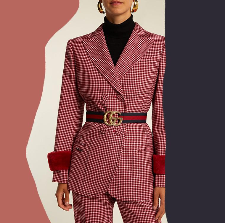 Ceinture Gucci bicolore et élastique