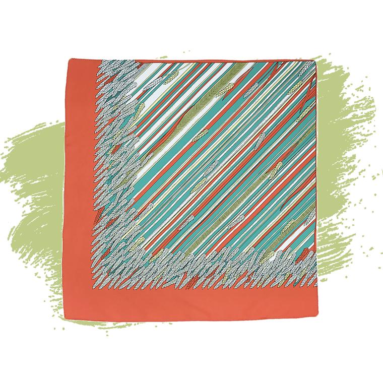 Carré de soie imprimé