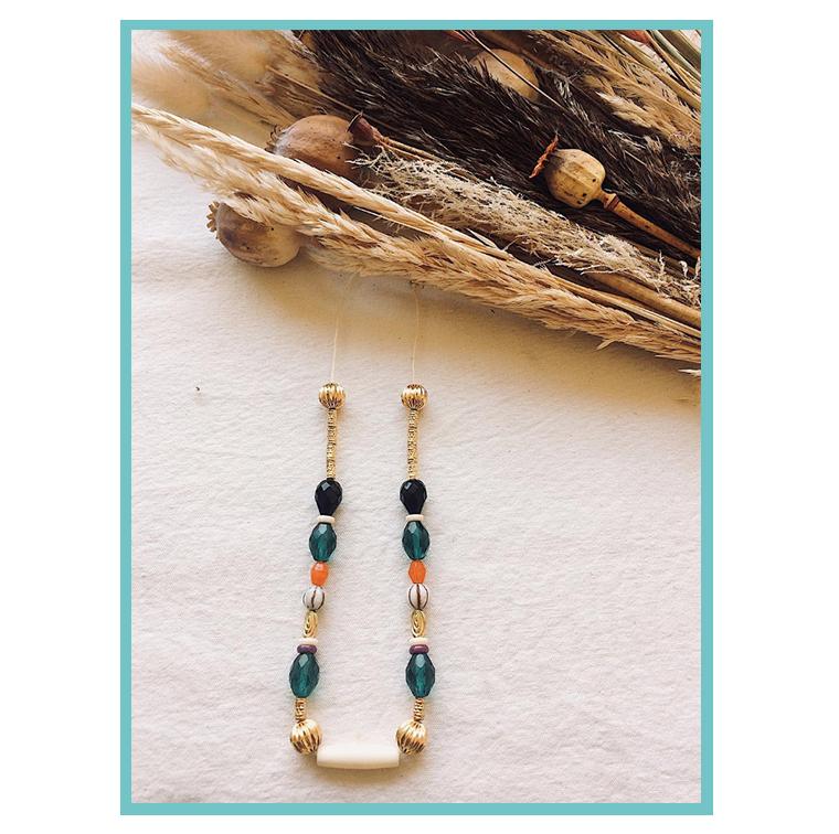 Colliers à perles d'Aude Banou