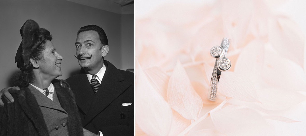 Portrait de Gala et Salvador Dalí et la bague Passion et Exil