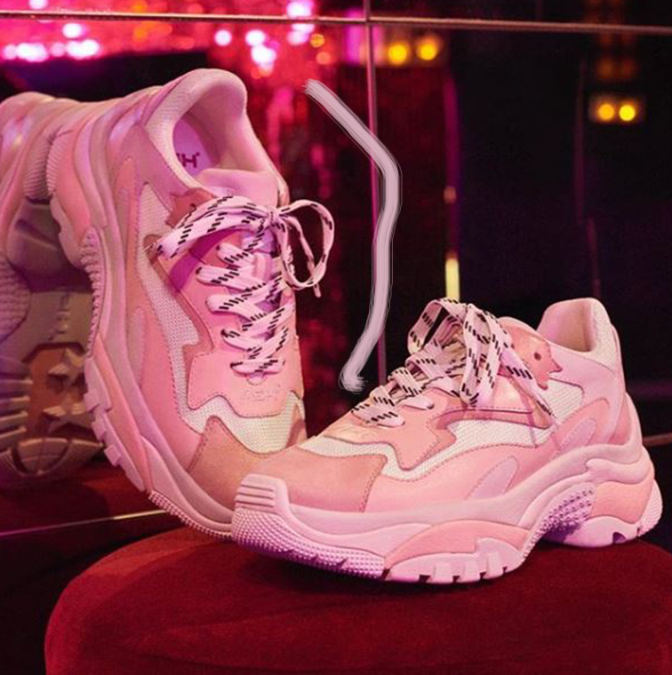 Sneakers roses girly