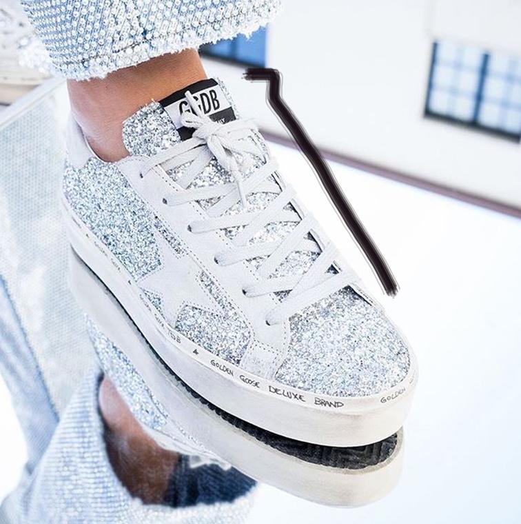Basket-bijou, sneakers avec paillettes