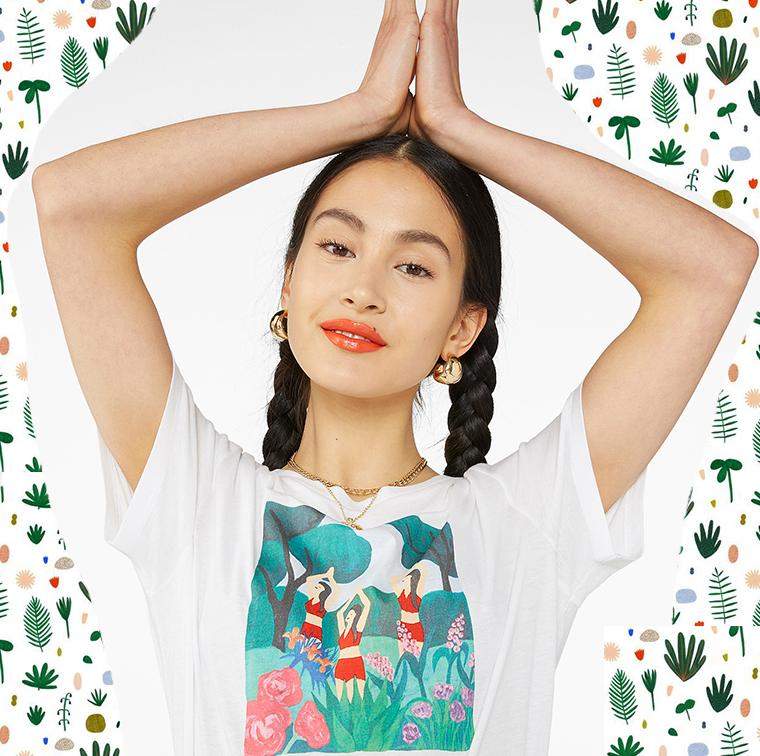T-shirt yoga en coton bio