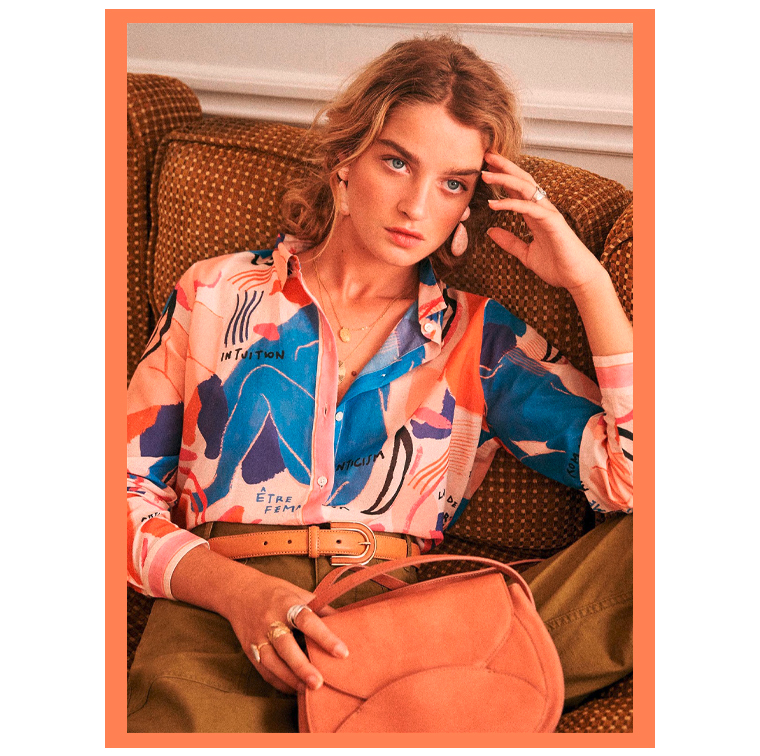 chemise à imprimé Matisse Pierro, Sézane