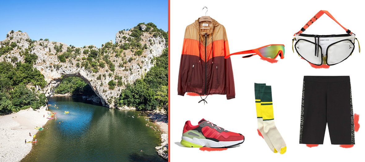 Manteau imperméable Isabel Marant, legging Pull & Bear, lunettes Prada, baskets Adidas, sac banane Bimba y Lola