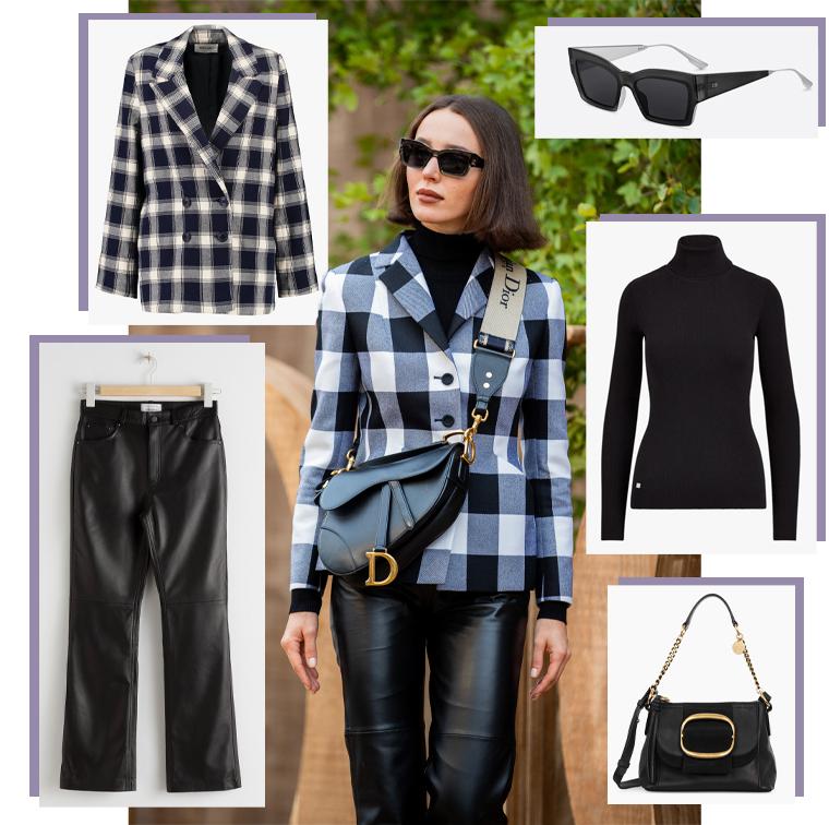 Veste Rolla's sur Zalando, pantalon & Other Stories, col roulé Lauren Ralph Lauren, sac See by Chloé, lunettes Dior