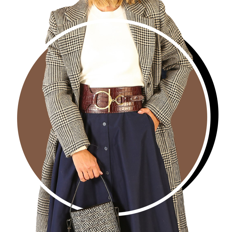 Une ceinture corset en cuire de Maria Grazia Chiuri