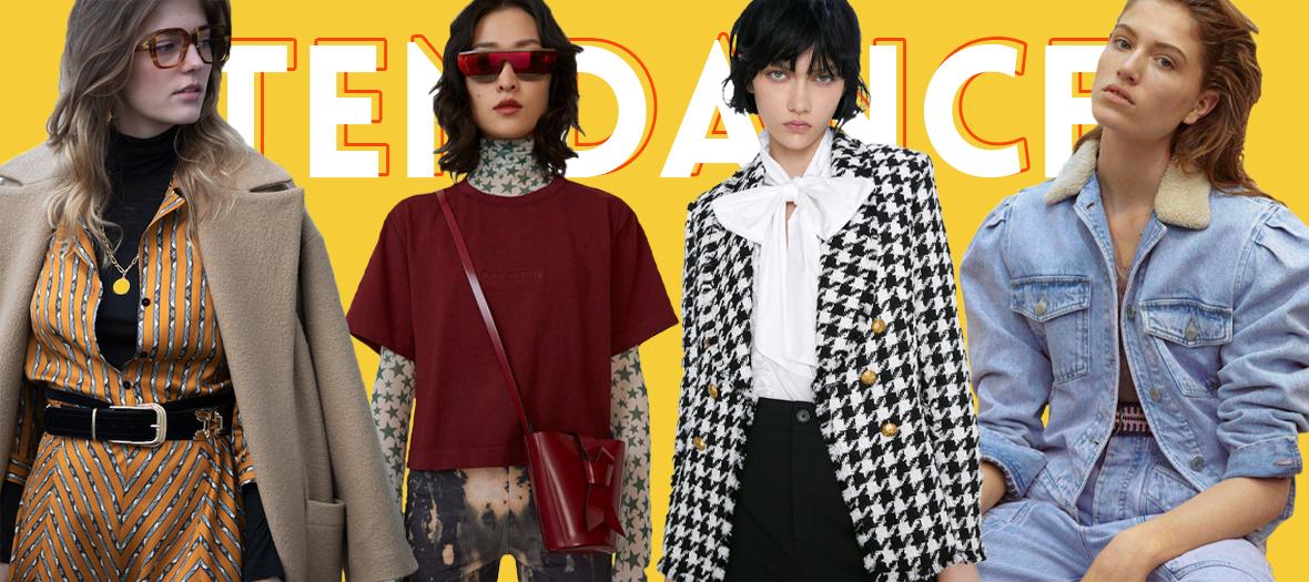 Modèle de look tendances 70's,80's,90' et 50' de Christian Dior