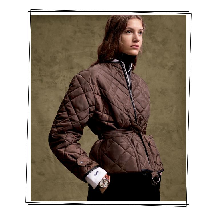 La veste Bomber matelassé de couleur marron de Ralph Lauren