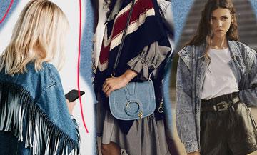 Les tendances Pantalon, jupe et sacs jeans du moment