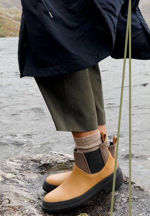 Les bottes de pluie en cuir de chez Cos