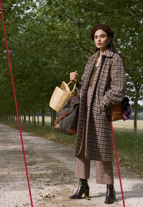 Le long manteau oversize à carreaux de chez Rouje
