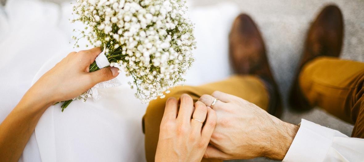 pour le jour du mariage