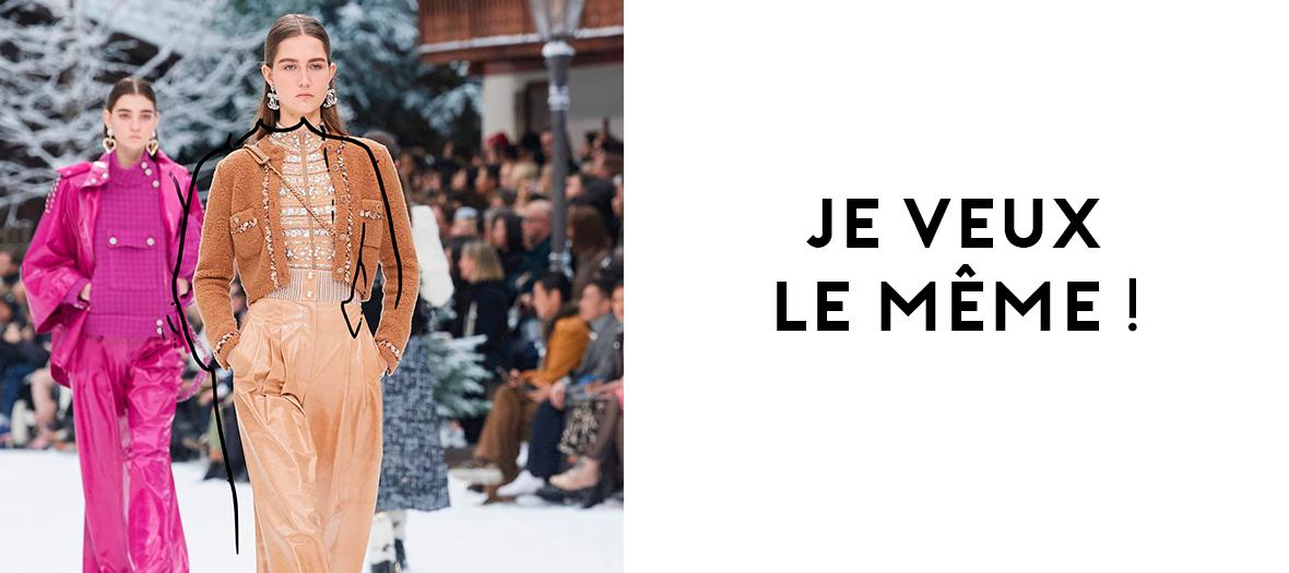 Défilé de pull Chanel à Paris