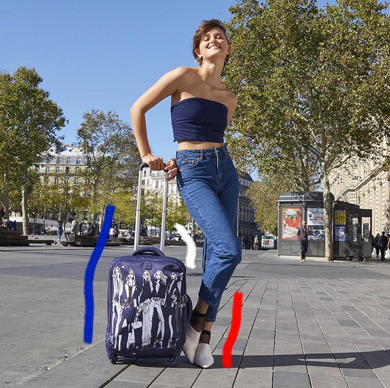 Valise cabine parisienne en toile