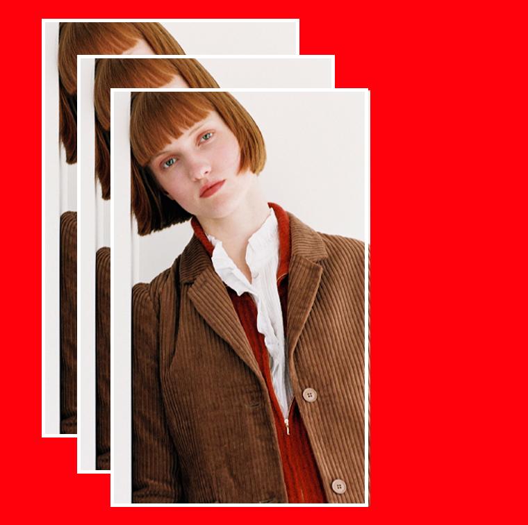 Veste en velours côtelé couleur marron de Bella Jones