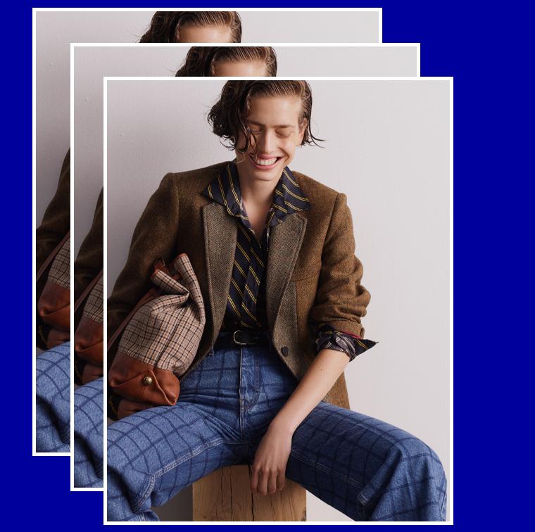 veste en laine marron tendance seventies B.C.B.G de Gérard Darel