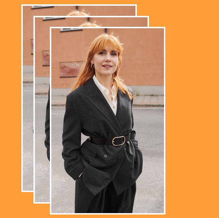 La veste masculin-féminin avec ceinture de & Other Stories et Sandra Andreis