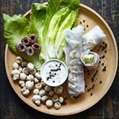 Recette de rouleaux de printemps a la sauce pastrami truffe