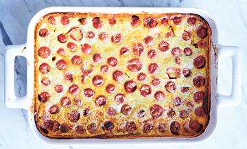 Recette de clafoutis aux tomates cerise