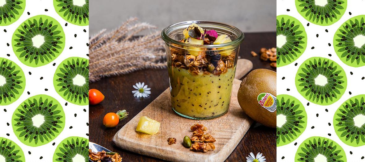 Compote Kiwi Granola