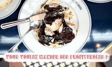 Recette profiteroles au chocolat du Grand Café Capucines