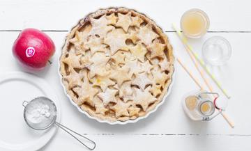 Une sympathique tarte aux pommes d'Halloween