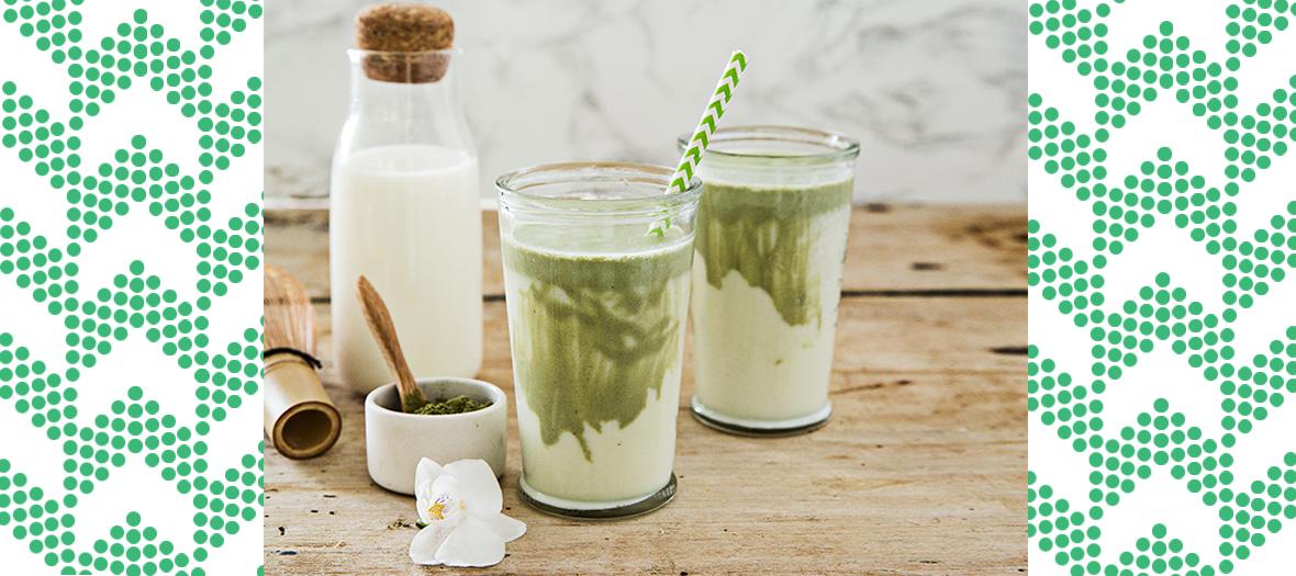 Recette latté au matcha et lait de brebis faible en lactose