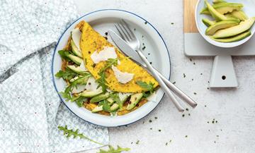 Recette healthy omelette à l'avocat
