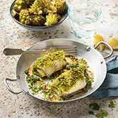 Recette de filet de carrelet pané à la pistache