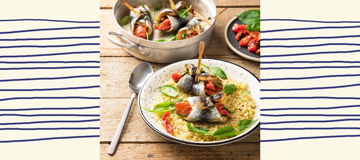 Recette filets de sardines farcis aux tomates confites