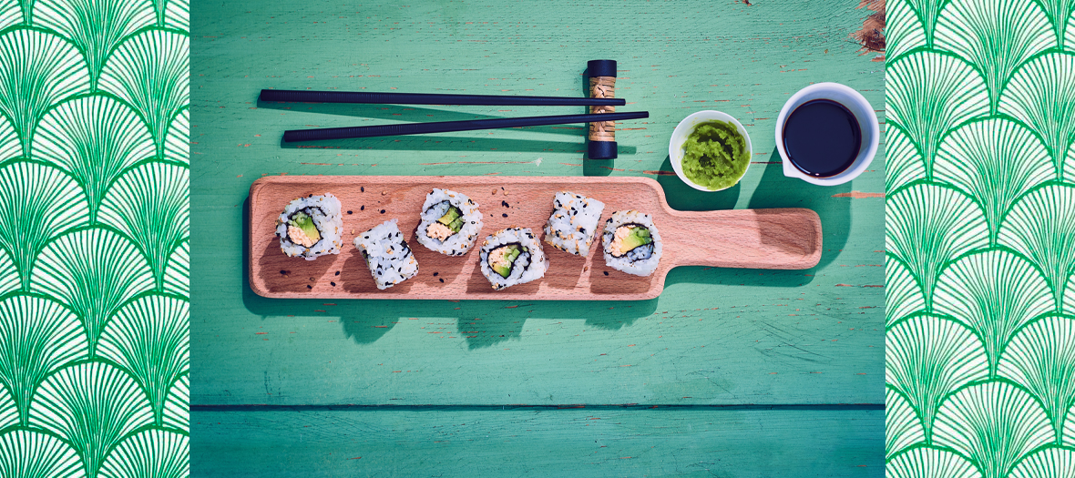 Sushi California Rolls
