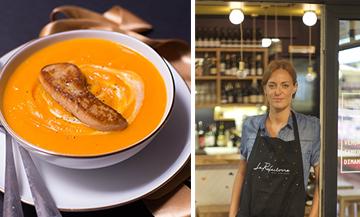 La bonne soupe potimarron et foie gras du Réfectoire