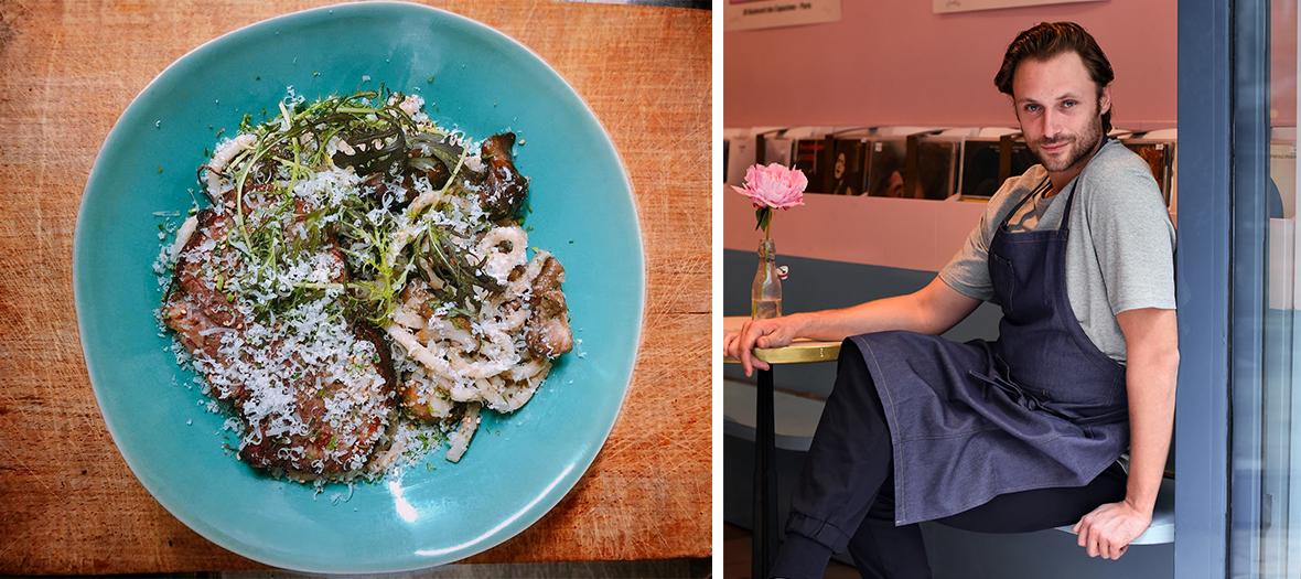 Recette Udon aux champignon sans creme du restaurant Tarakamono