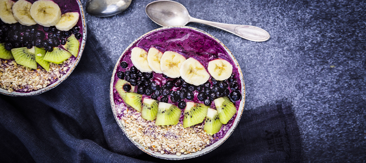 Smoothie Bowl Myrtilles Sauvages