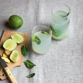Recette eau de coco, gingembre, menthe, citron vert