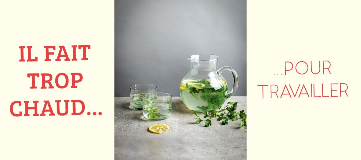 Recette eau détox au citron et au persil