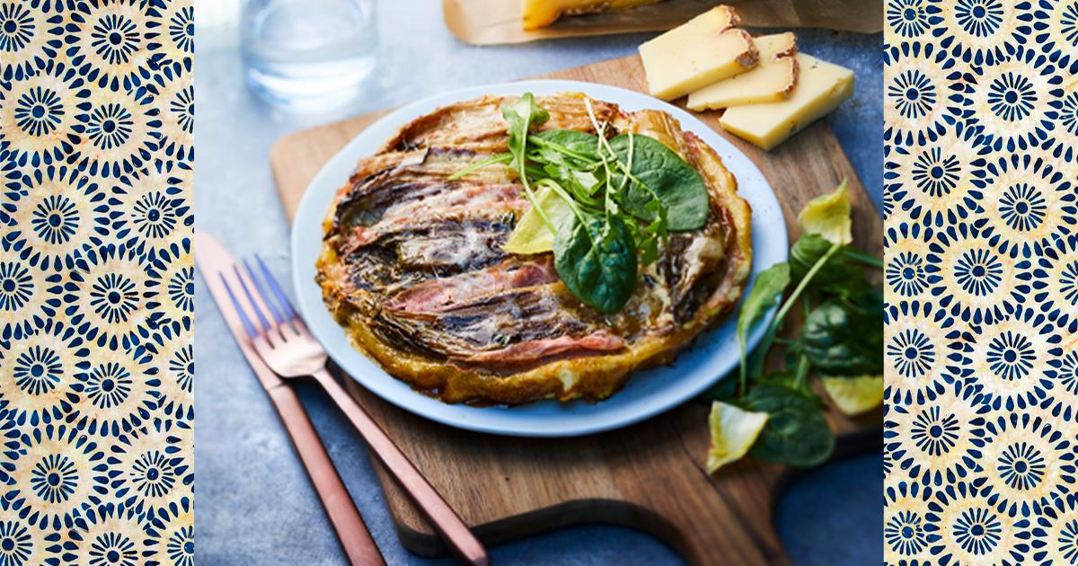 Recette facile de tarte salée au jambon et fromage