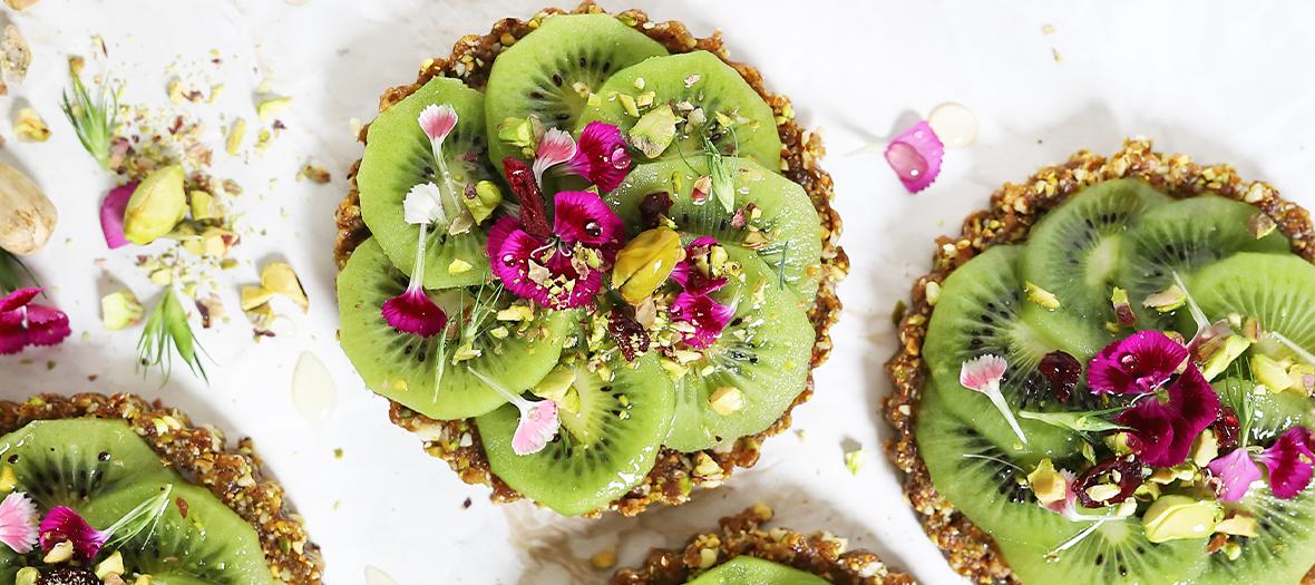 Recette tartelette kiwi et pistache sans cuisson