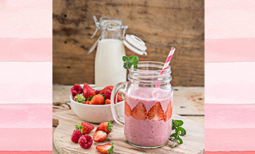 Le smoothie glacé emballe le printemps