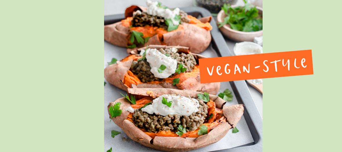 Recette vegan à la patate douce
