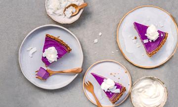 La tarte végane violette qui affole les brindilles