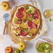 Recette tarte salée tomates, fraises et St Môret