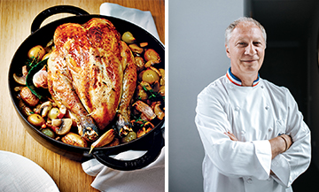 The famous roast chicken by Eric Frechon