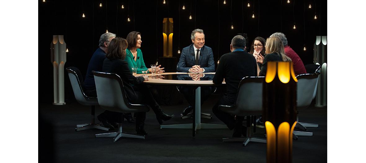 Plateau Télé avec Michel Denisot, Dominique Besnehard, Alexandra Schamis et Franck Dubosc