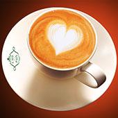 Petit dej charity d'Inès de la Fressange café + croissant + jus d'orange
