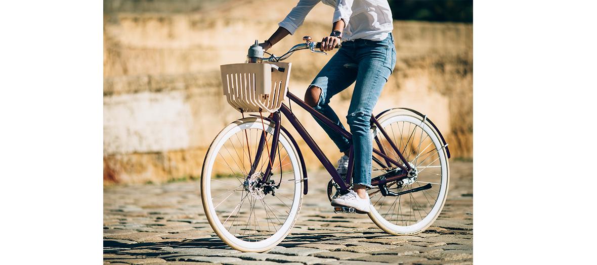 Balade en vélo upcycling de la marque écolo vélosophie.