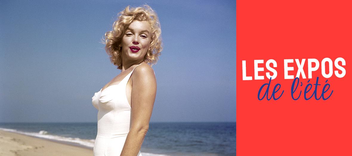 Marilyne Monroe on a beach